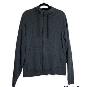 Arc'Teryx grey mens size large hooded zip up sweatshirt hoodie